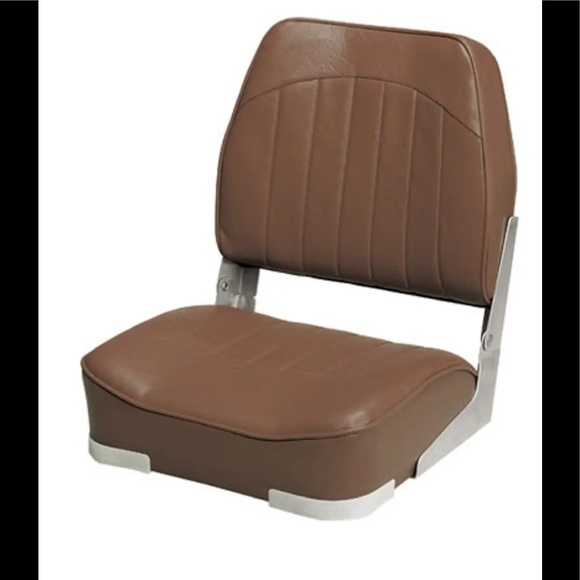Brown boating low back folding seat (bff) f28
